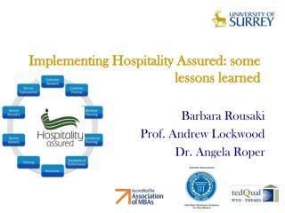 Implementing Hospitality Assured: some lessons learned