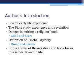 Author's  Introduction