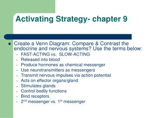 Activating Strategy- chapter 9