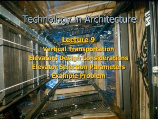 Technology in Architecture