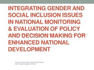 Francesca Pobee-Hayford, Senior Gender Advisor CIDA - Program Support Unit (PSU)