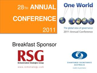 28 TH ANNUAL CONFERENCE 2011