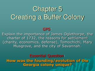 Chapter 5 Creating a Buffer Colony