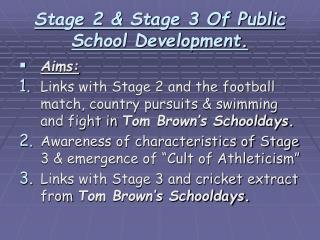 Stage 2 & Stage 3 Of Public School Development.