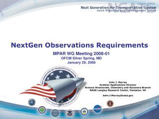 NextGen Observations Requirements