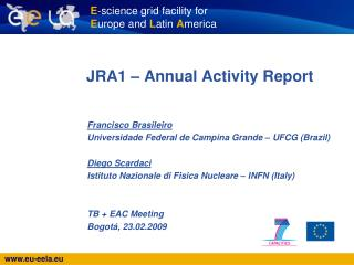 JRA1 – Annual Activity Report