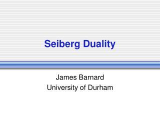 Seiberg Duality