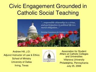 Civic Engagement Grounded in Catholic Social Teaching