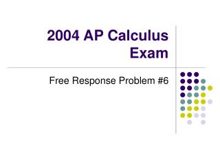 2004 AP Calculus Exam