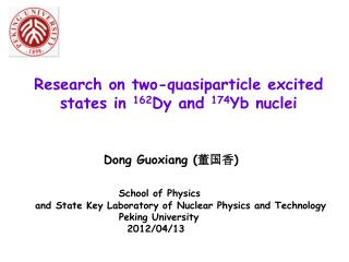 Research on t wo-quasiparticle excited states in  162 Dy and  174 Yb nuclei