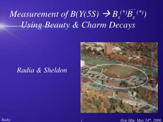 Measurement of B(Y(5S)   B s (*) B s  (*) )  Using Beauty & Charm  Decays