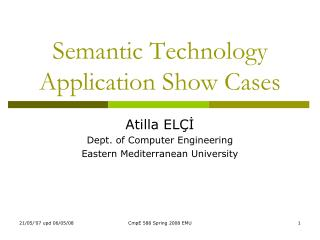 Semantic Technology Application Show Cases