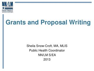 Grants and Proposal Writing