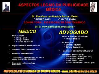 ASPECTOS LEGAIS DA PUBLICIDADE MÉDICA