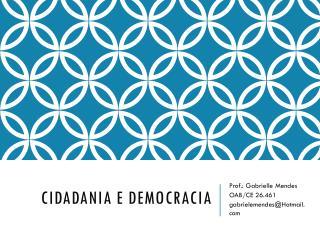 Cidadania e democracia