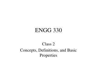 ENGG 330