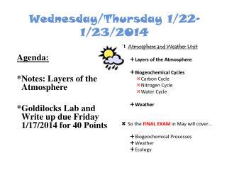 Wednesday/Thursday 1/22-1/23/2014