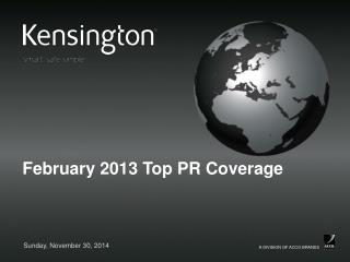 February 2013 Top PR Coverage