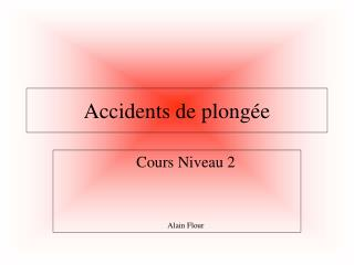 Accidents de plongée