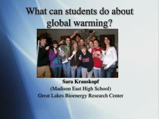 What can students do about global warming?