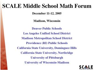 SCALE Middle School Math Forum