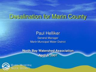 Desalination for Marin County