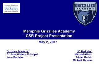 Memphis Grizzlies Academy Internships, CSR & More