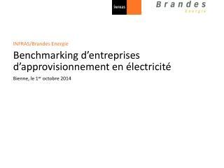 INFRAS/Brandes Energie Benchmarking d'entreprises  d'approvisionnement  en électricité