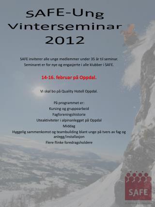 SAFE-Ung Vinterseminar 2012