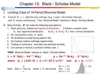 Chapter 13.  Black / Scholes Model