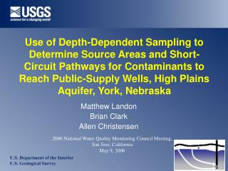Use of Depth-Dependent Sampling to Determine Source Areas and Short-Circuit Pathways for Contaminants to Reach Public-Su