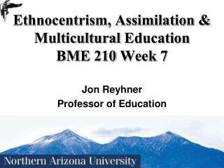 Ethnocentrism, Assimilation & Multicultural  Education BME 210 Week 7