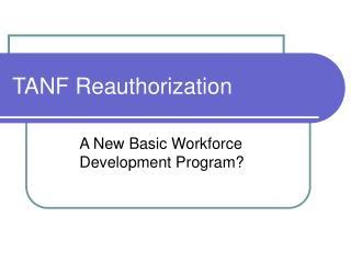 TANF Reauthorization