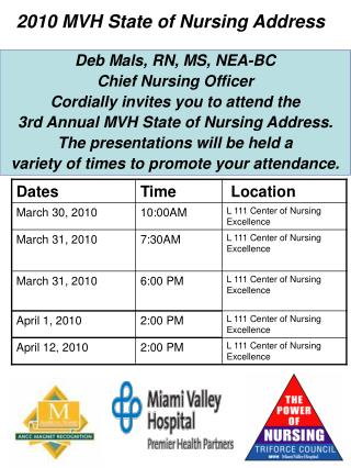 2010 MVH State of Nursing Address