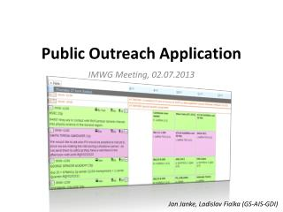 Public Outreach Application