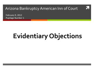 Arizona Bankruptcy American Inn of Court