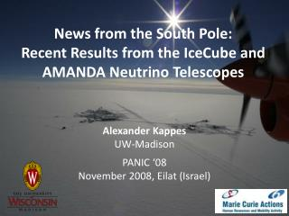 News from the South Pole:  Recent Results from the IceCube and AMANDA Neutrino Telescopes
