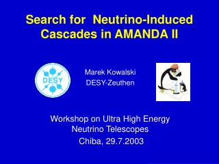 Search for  Neutrino-Induced Cascades in AMANDA II