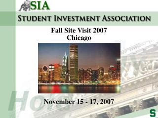 November 15 - 17, 2007