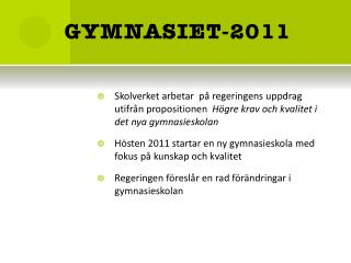 GYMNASIET-2011