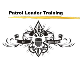 Patrol Leader Training