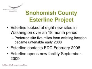 Snohomish County Esterline Project