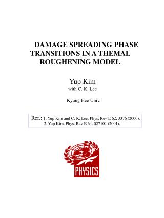 DAMAGE SPREADING PHASE TRANSITIONS IN A THEMAL ROUGHENING MODEL