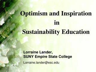 Lorraine Lander,  SUNY Empire State College