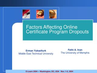 Factors Affecting Online Certificate Program Dropouts