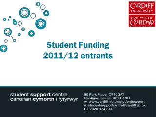 Student Funding  2011/12 entrants