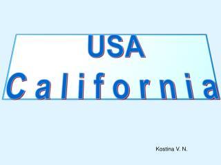 USA  C  a l i f o r n i a