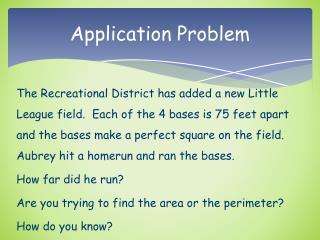 Application Problem