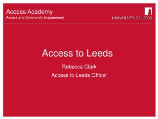 Access to Leeds