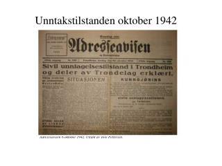 Unntakstilstanden oktober 1942